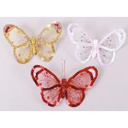 Декоративная бабочка 15см, 3 вида