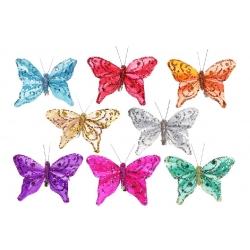 Декоративная бабочка 11.5см, 8 видов