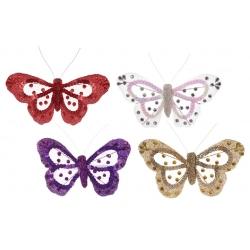 Декоративная бабочка 15см, 4 вида