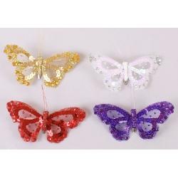 Декоративная бабочка 11см, 4 вида