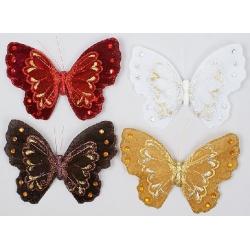 Декоративная бабочка 21см, 4 вида