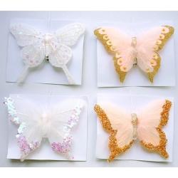 Декоратативная бабочка 12см, 4 вида