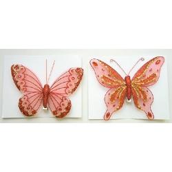 Декоратативная бабочка 12см, 2 вида