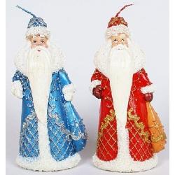 Декоративная новогодняя свеча Дед Мороз 16.5см, 2 вида
