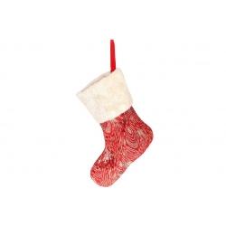 Декоративный новогодний Сапожок для подарков 43см, цвет - красный