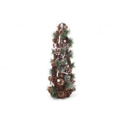 Декоративная елка из шишек и веток 64см