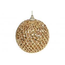 Елочный шар 10см, цвет - золото