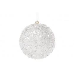 Елочный шар 10см, цвет - белый