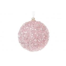 Елочный шар 10см, цвет - розовый