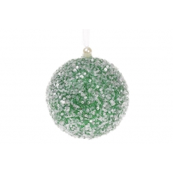 Елочный шар 10см, цвет - зеленый