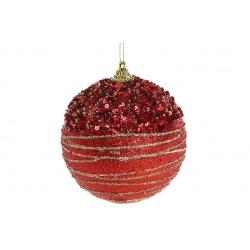 Елочный шар 10см, цвет - красный