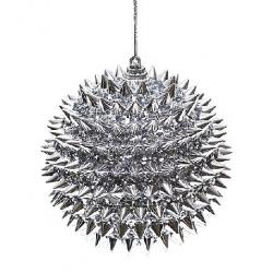 Елочный шар 10см серебро