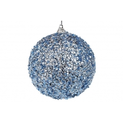 Елочный шар 10см, цвет - синий металлик