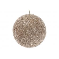 Елочный шар 20см, цвет - шампань