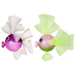 Елочное украшение Рыбка 22см, 2 вида