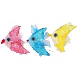 Елочное украшение Рыбка 18см, 3 вида