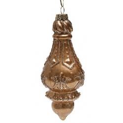 Елочное украшение 16см антик золото