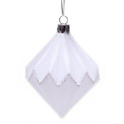 Елочное украшение 11.5см белый