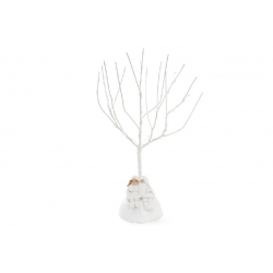 Декоративная композиция Гномики под светящимся деревом 36см