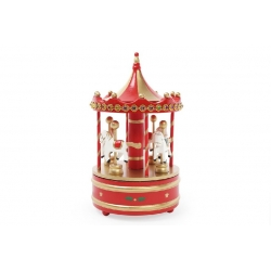 Декоративная музыкальная карусель с лошадками 23см
