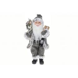 Мягкая игрушка Санта 41см, цвет - серый