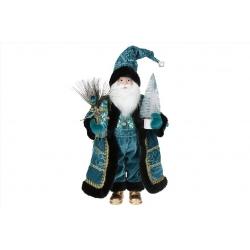 Мягкая игрушка Санта 46см, цвет - бирюза с черным