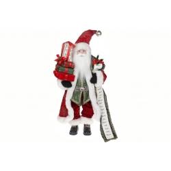 Мягкая игрушка Санта 46см, цвет - красный с зелёным