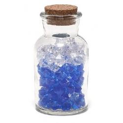 Декоративная бутылочка 10.2см с пробкой, прозрачное стекло (без декора внутри)