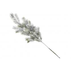 Ветка елки декоративная заснеженная, 65см