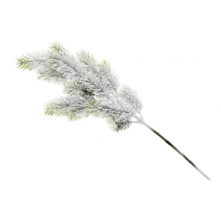 Ветка елки декоративная заснеженная, 48см