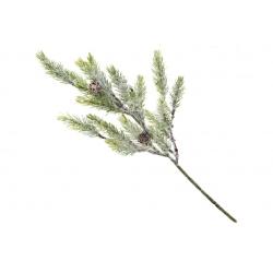 Ветка елки декоративная в инее, 38см