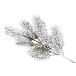 Ветка елки декоративная заснеженная