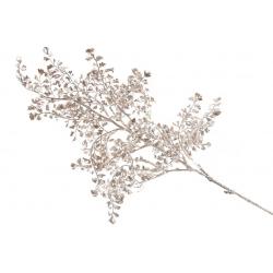 Декоративная ветвь Гинко, 70см, цвет - матовое золото