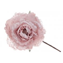Декоративный искусственный цветок, 15*22см, цвет - розовый