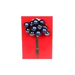 Гроздь ягод для декора 12 шт, 2см, цвет - синий