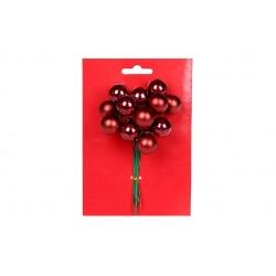 Гроздь ягод для декора 12 шт, 2см, цвет - бордо