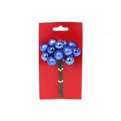 Гроздь ягод для декора 6 шт, 2см, цвет - яркий синий