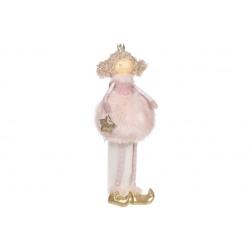 Декоративная мягкая игрушка Принцесса в меховой юбке, 52см, цвет - розовый