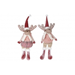Мягкая декоративная игрушка Олени, 2 вида, 64см, цвет - розовый
