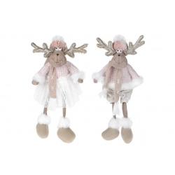 Мягкая декоративная игрушка Весёлые Олени, 2 вида, 20см, цвет - розовый