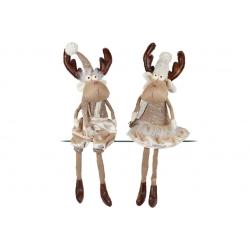 Мягкая декоративная игрушка Олени, 60см, 2 вида, цвет - коричневый