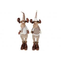 Мягкая декоративная игрушка Олени, 100см, 2 вида, цвет - коричневый