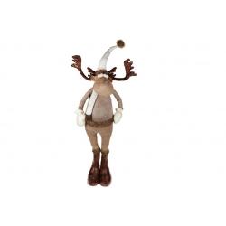Мягкая декоративная игрушка Олень, 145см, цвет - коричневый