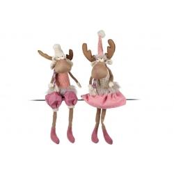 Мягкая декоративная игрушка Олени, 60см, 2 вида, цвет - розовый