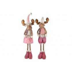 Мягкая декоративная игрушка Олени, 105см, 2 вида, цвет - розовый