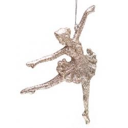Елочная подвеска Балерина, 11x15см, цвет - шампань