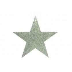 Елочная подвеска Звезда 11см, цвет - мятный