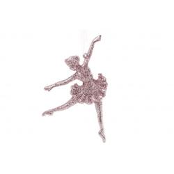 Елочная подвеска Балерина 15см, цвет - светло-розовый