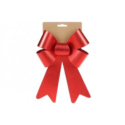 Бант декоративный 16*25см, цвет - атласный красный