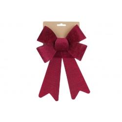 Бант декоративный из бархата 16*25см, цвет - бордо